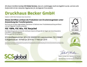 FSC-Zertifikat-Druckhaus-Becker
