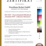DRUCKHAUS BECKER GMBH 2019 ERNEUT MIT PREMIUM-PSO ZERTIFIZIERT !