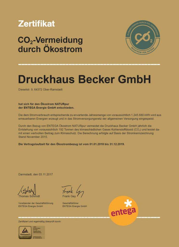 Ökostrom Druckhaus Becker