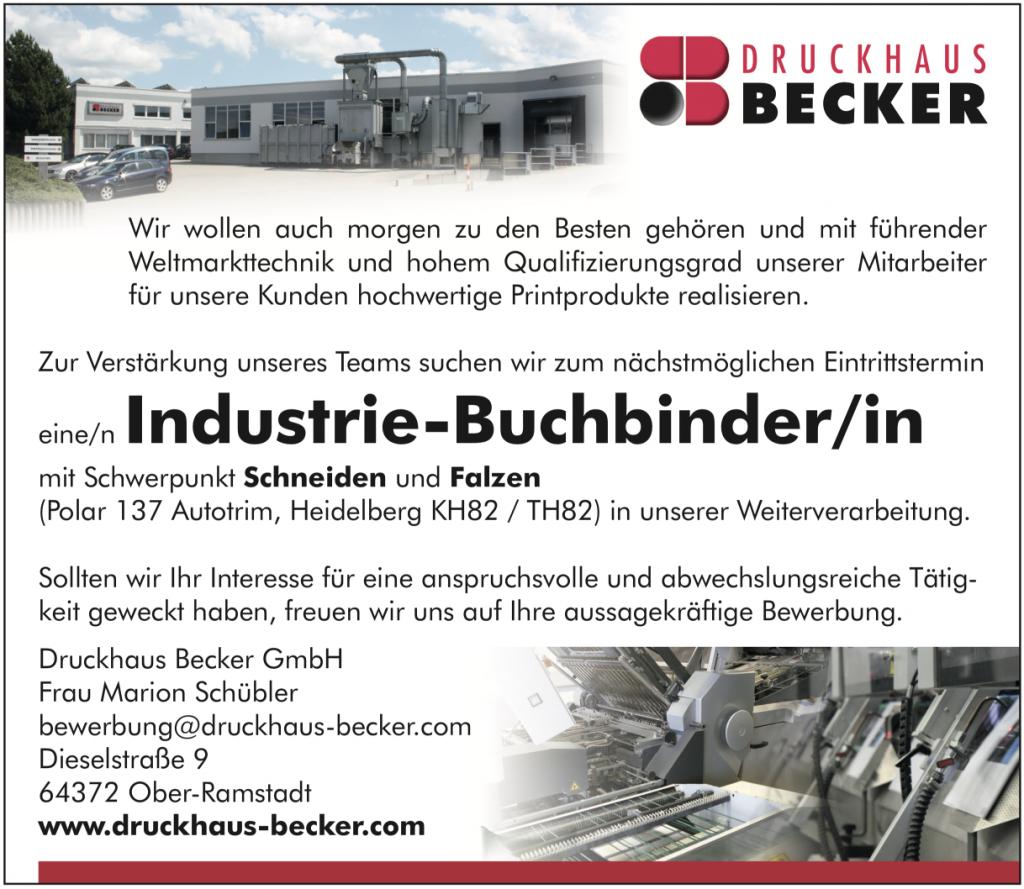 Stellenanzeige Buchbinder