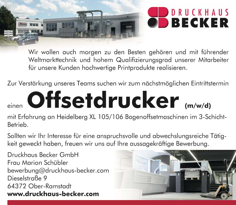 Druckhaus Becker Offsetdrucker